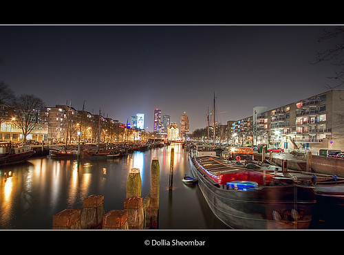 city longexposure travel light vacation people urban holiday haven holland color tourism water colors skyline architecture night canon reflections river boats photography lights noche photo rotterdam topf50 bravo europe cityscape foto tour place nightshot photos nacht harbour thenetherlands visit location tourist explore le journey destination traveling maas visiting topf150 topf100 frontpage nuit haringvliet notte hdr touring stad 1022 noch zuidholland canonefs1022mmf3545usm southholland photomatix 50d tonemapping nachtopname canoneos50d detailsenhancer dollia dollias sheombar dolliash