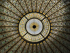 Bixby Memorial Library (1912) - stained glass dome