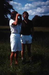 Hanne & Ole in Dyrehaven, summer 1983