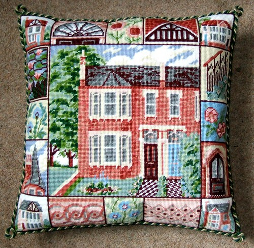 Victorian House Cushion