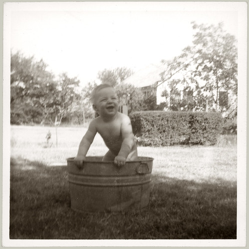 Boy in a wash tub
