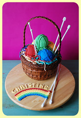 Knitting Tool Basket Cake