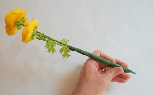 Taped Flower Pen for Mother's Day