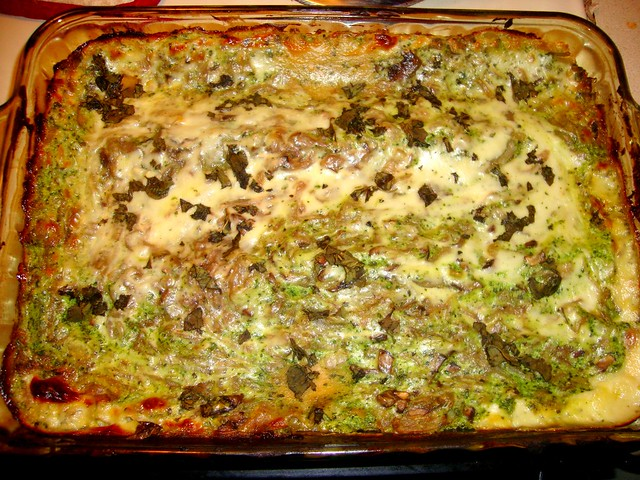 Caramelized Onion and Spring Spinach Lasagna | Flickr - Photo Sharing!
