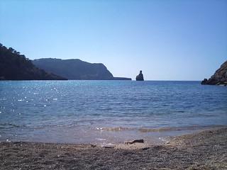 Obraz Cala Benirràs w pobliżu Sant Joan de Labritja. sea holiday beach ibiza 2010