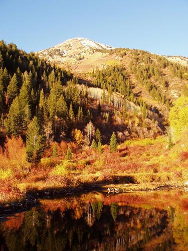 Box Elder Peak above a small pond on White Creek.