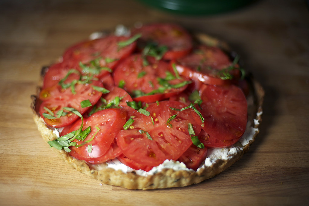 southern kitchen creole tomato basil tart the hungry. Black Bedroom Furniture Sets. Home Design Ideas