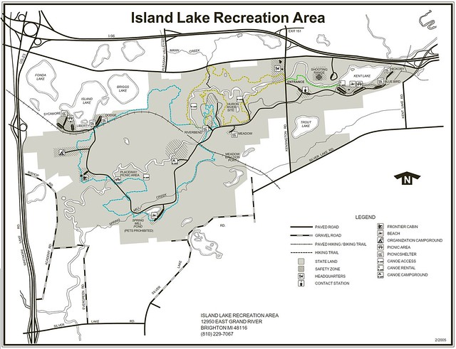 Island Lake Recreation Area Trail Map