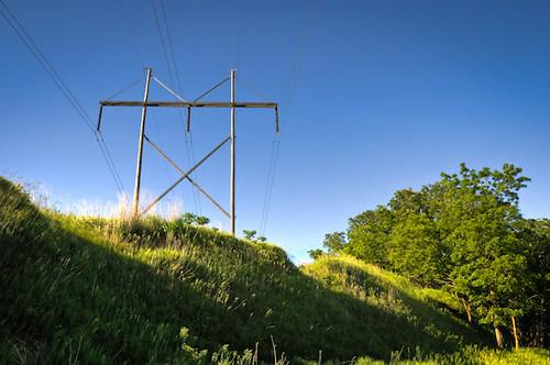 blue trees sky grass clouds landscape shadows powerlines hdr nikon18200mm bellevuenebraska westpapiotrail nikond300s