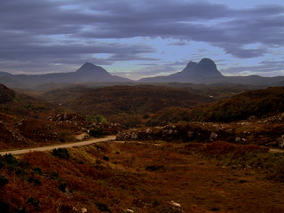 Suilven and Canisp Mountains Assynt Scotland