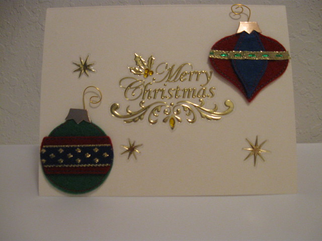 Elegant ornaments christmas card flickr photo sharing for Elegant homemade christmas cards