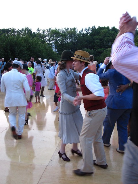 BBG members cut a rug on Cherry Esplanade. Photo by Rebecca Bullene.