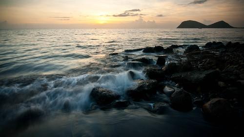 longexposure sunset rocks caribbean dominica caribbeansea cabrits