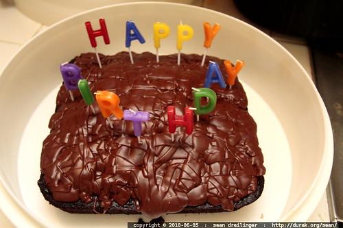 rachel's gluten free, almost dairy free birthday cake