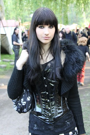 Goth Girl in Corset Taken at Wave Gotik Treffen Friday 21st May Monday