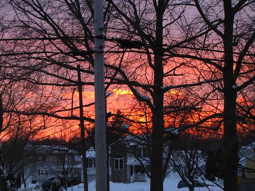 winter sunset southjersey gibbsboro camdencounty southernnj gibbsboronj