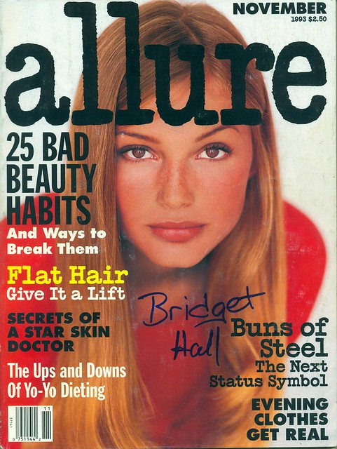 November 1993, Autographed Allure Magazine by Bridget Hall