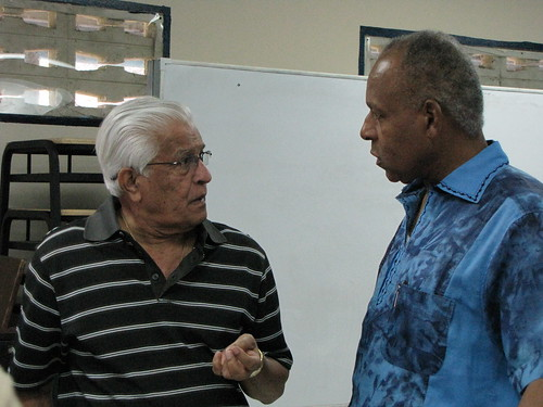 Patrick Manning and Basdeo Panday at Presentation College Reunion (2010)