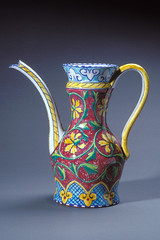 art, serveware, jug, yellow, pottery, pitcher, cobalt blue, tableware, vase, ceramic, porcelain,