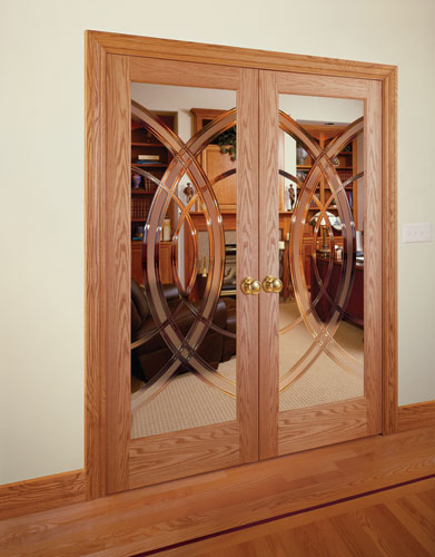 Superieur Feather River Door Wood Interior Doors   Cosmo Grooved Red Oak Double Door