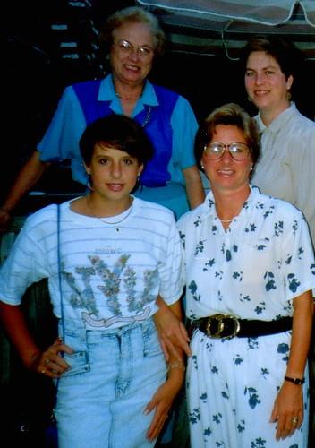 Mid 1990s - clockwise: Mama, me, Lisa, and Brooke