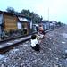 Anak-anak bermain di rel. : Children playing near the railway. Photo by Ardian