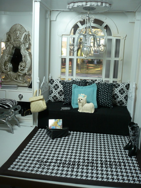 Barbie dollhouse bedroom daybed flickr photo sharing for High school bedroom designs