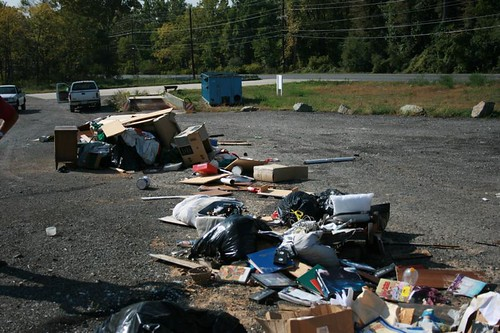 Image of illegal dumping.