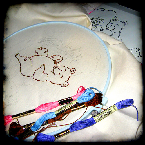 playful bears for j q adams in the hoop up embroidery swap ...design by isewcute