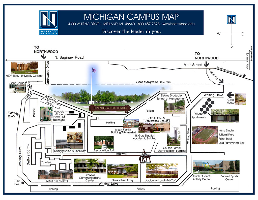 University Michigan Campus Map.Campus Map Northwood University Flickr