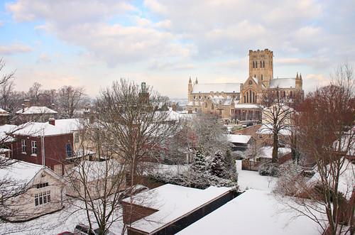 Norwich snow scene