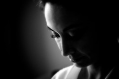 backlighting, white, light, head, monochrome photography, close-up, monochrome, darkness, black-and-white, shadow, portrait, black,
