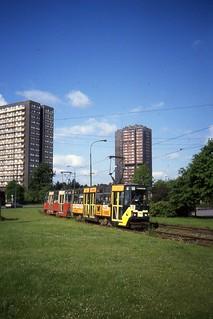 WPK Katowice Tramwaj  Linia 11, Konstal Car nr 769. May 1991