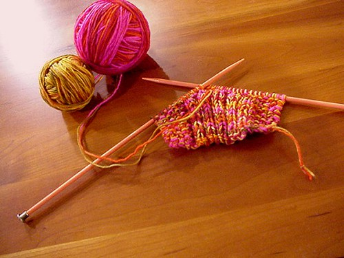 Knitting brings me solace . . .