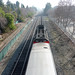 Caltrain from Shoreline Overpass