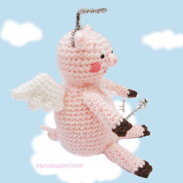 Flying Angel Pig Amigurumi Crochet Pattern : Flickriver: Photoset Flying Angel Pig Amigurumi Crochet ...