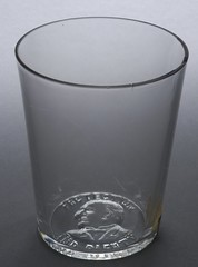 """McKinley """"Protection And Plenty"""" Portrait Drinking Glass, ca. 1896"""