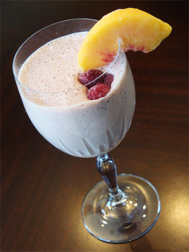 Raspberry Peach Melba Smoothie Recipe