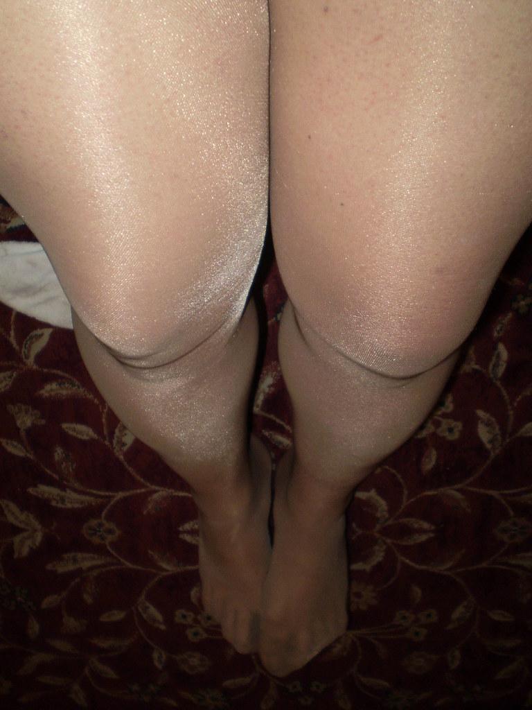 My legs in Donna Karan pantyhose