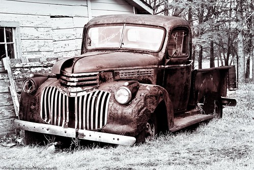 wood old trees bw white black building abandoned broken metal truck landscape ancient rust automobile farm wheels shed rusty pickup tint tires weathered decrepit decaying dilapidated blueribbonwinner bej