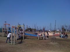 北代緑地の公園ゾーン遠景