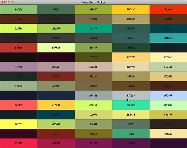Kuler Color Picker I Created A Little Application That
