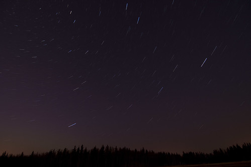 Star trails Elk Island | by bwpcoax