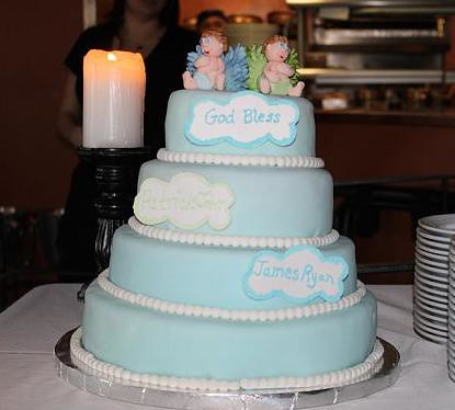 Pin Twin Boys Christening Cake — First Communion Cake on Pinterest