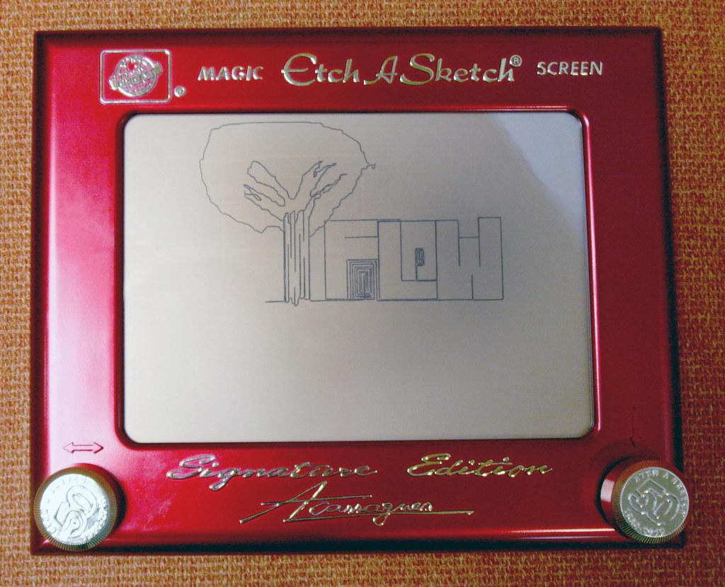 Etch A Sketch Art - Staff Creations   Flow by Mansoor Siddee