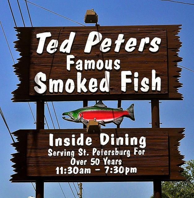 St petersburg ted peters smoked fish sign a photo on for Ted peters smoked fish
