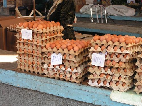 Eggs in Tashkent Markets