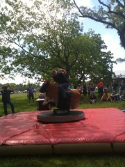 Bull Riding competition @bazaarvoice All Hands