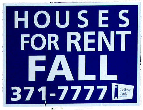 Rented Houses Fall Sign