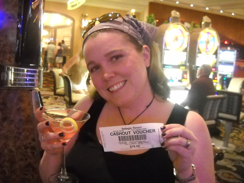 My winning ticket (that I eventually lost) and cosmo first night in Vegas